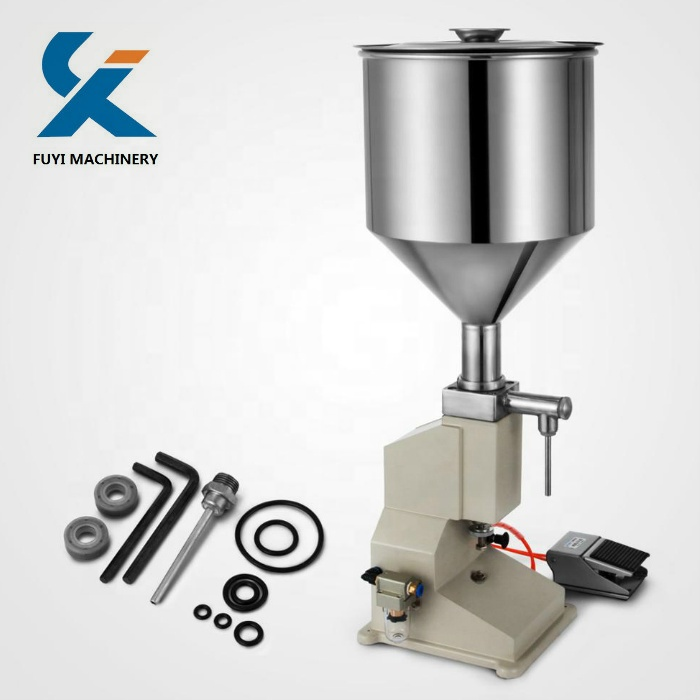 <strong>A02</strong> Pneumatic Liquid Paste Filling Machine For Cream Shampoo Cosmetic 5~50ml