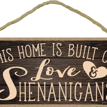 This Home is Built on Love and Shenanigans 5x10 Hang on The Wall Home Decor