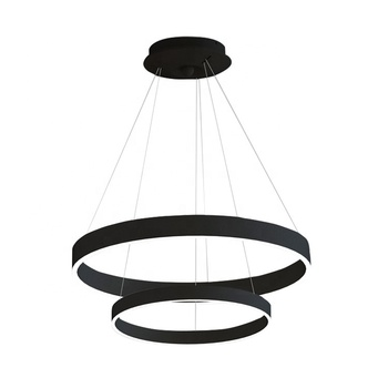 L4u Ready to Ship 600mm 400mm ETL cETL USA Canada Modern Aluminum Pendant Light LED Ring Lamp Contemporary Chandeliers