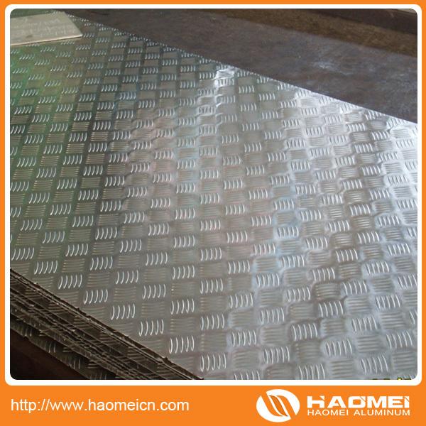 Chapa de aluminio antideslizante precio 1060 3003 5052 for Precio de aluminio