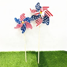 pilastic big American flag design Outdoor decorative <strong>windmill</strong>