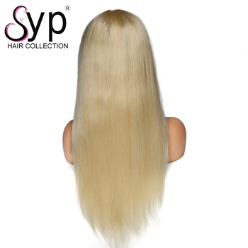 Cheap Wholesale Price Straight 613 Blonde Remy 100%Human Hair Ear To Ear Lace Frontal Closure Wigs