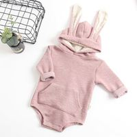 Wholesale hooded design spring romper baby ready made garment