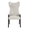 Wholesale White Seating Wide Worn Recliner Luxury Dining Chair Accent High Back Wing Leather Chair