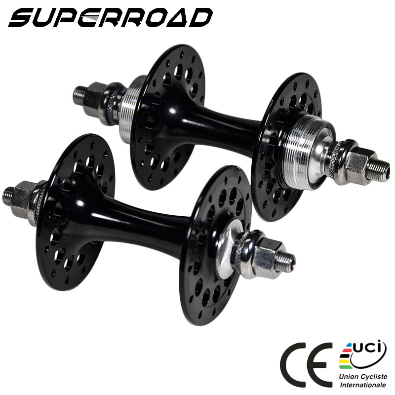 Alloy Track Hub <strong>20</strong> 24 28 Holes Powerway T01 Fixed Gear Hub 120mm With Enduro Bearings