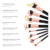 BS-MALL Customs Logo Vegan 14pcs Wood Handle Makeup Brush Set for Beauty Girl Maquillaje Make Up Brushes Hot Selling 2019