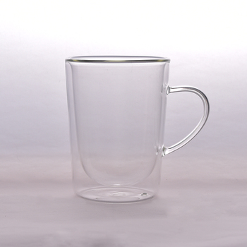 Wholesale 280 ml double wall glass coffee cup