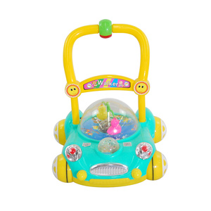 Manufacture wholesale sit to stand learning walker to help baby learn walk / cute baby walker with toys and music