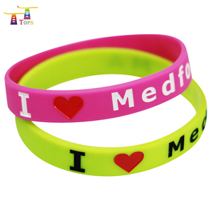 Manufacturing Diy Gift Best Selling Products Kids Craft Set Debossed Bracelets In Stock Silicone Wristbands With Led Lights