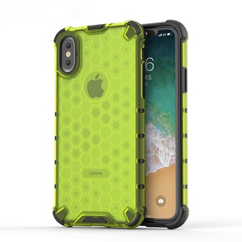 New Arrival TPU PC honeycombed design phone cases for iphone xs shockproof cover
