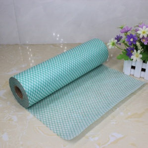 Cost Effective Non-woven Fabric Chemical Bond Cleaning Wipes Rolls in Diamond