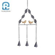 Wholesale Hanging Nordic Home Wind Chime Metal Wind Bell Windchime Metal Wall Hangings Outdoor Wind Chimes For Decoration