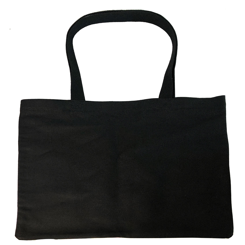 Custom <strong>100</strong>% Hemp Canvas Shopping Bag Heavy Duty Reusable Tote Bag In Black