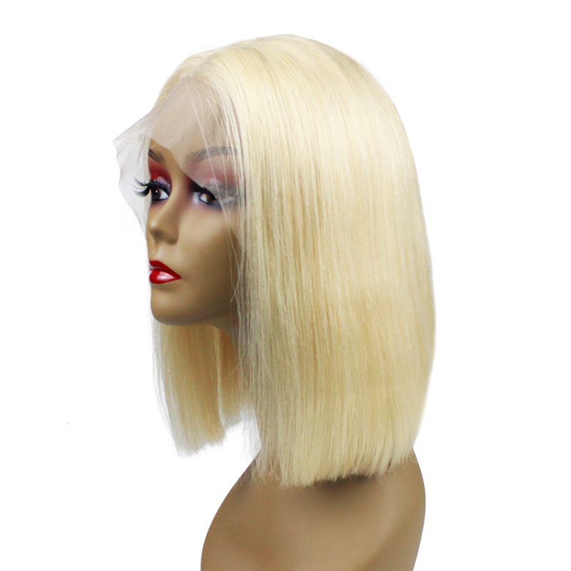High quality short human hair wig the length up to shoulders color wig natural black wig for women