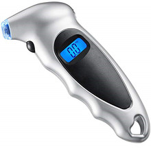 Digital Tire Pressure Gauge 150 PSI 4 Settings for Car Truck Bicycle with Backlit LCD and Non-Slip Grip