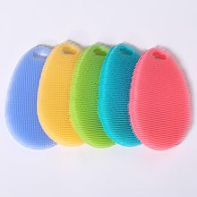 Hot Sale Heat-Resistant Food Grade Silicone Kitchen Dish Sponge <strong>Brush</strong>