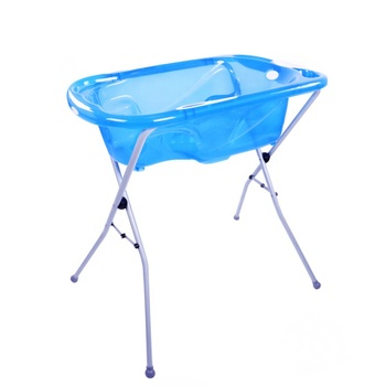 transparent plastic baby bathtub with steel stand