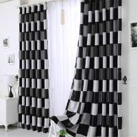low price made blackout jacquard curtain fabric, second hand curtains window from china curtains black and white