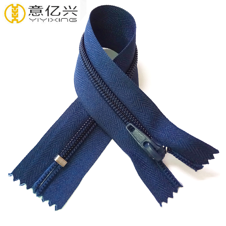 High Quality Personalized No3 30cm Auto Lock Nylon Zipper From China