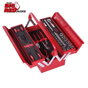 Torin BigRed Tool box with Tools(48 PCS mechanical tools set)