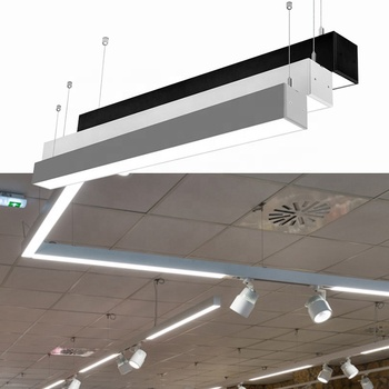 Black/White/Silver colors linear trunking led light with 3years warranty