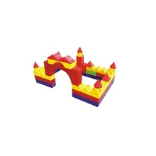 Newest product plastic big building blocks, educational big building blocks for children