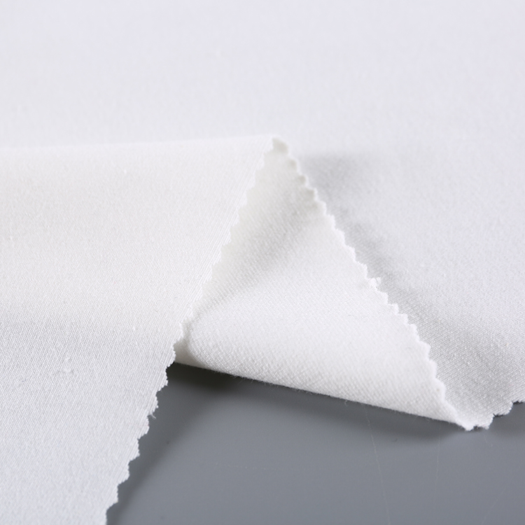 China gold supplier wholesale custom plain stretch knit white <strong>cotton</strong> polyester spandex fabric