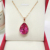 1000S Hot Fashion Crystal Water Drop Necklace Pendant for women Jewelry Wholesale