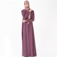 2019 chiffon <strong>abaya</strong> Made To Order adult <strong>muslim</strong> ladies Glamorous turkish plain color c moroccan dress with front corsage