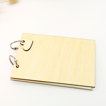 Engraved Wooden guest book Photo Album