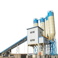 Fixed hzs90 cement conveyor belt concrete plant