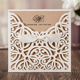 WISHMADE Factory Customized Laser Cut Invitation Card with Envelope for Wedding Quinceanera Baby Shower Anniversary Party Sample