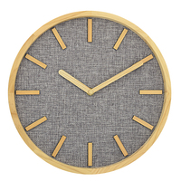 12 inch modern creative home decorative nordic style 3d wood numbers silent round wooden wall clocks with quartz movement