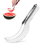 Amazon Top Seller 2019 Household Gadgets Practical Creative 430 Stainless Steel 4 Colors Fruit Tools Watermelon Cutter Slicer