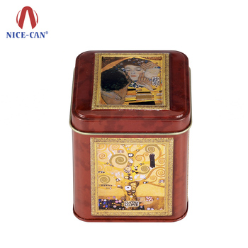 Unique Cosmetic tin metal containers mask tin box for skin care cream