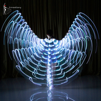 Customization Economic 360 Degrees 160 Lights Colorful Adult Fairy Butterfly Belly Dance Led Isis Wings Dance Costume