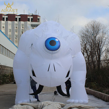 Big inflatable white beast monster cartoon mascot