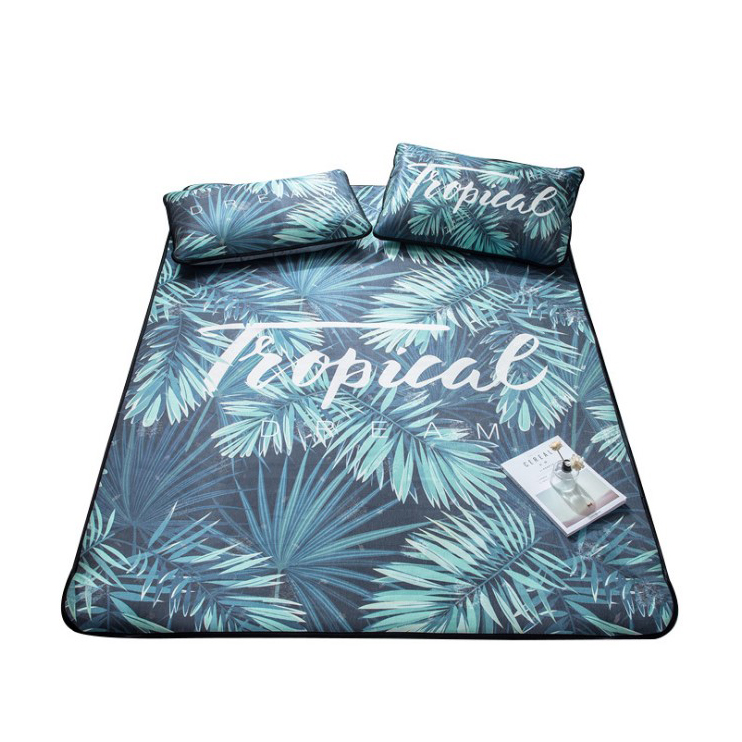 Wholesale Summer Sleeping Printed Mat Single And Double Bed Mattress <strong>Sheets</strong> With Pillowcase