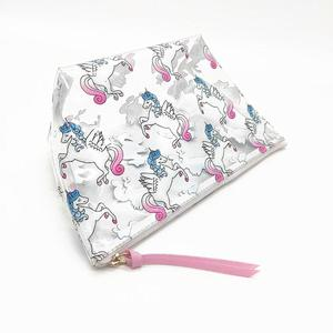 cartoon animal printing customized small pvc lace eyelash makeup bag custom pvc bag cosmetic