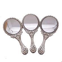 Wholesale Vintage Rose Flower Shape Lady Hand Held Mirror Cosmetic Mirror