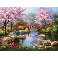 Factory Wholesale 5D Diamond Painting Landscape Full Drill Round Diy Diamond Embroidery Kits Cross Stitch For Gift And Craft bro
