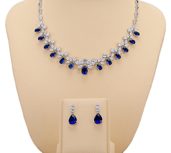 New wedding jewelry luxury cubic zirconia bridal jewelry sets