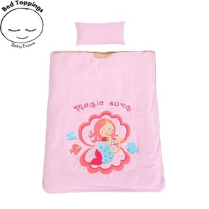 Sleeping bag for girl baby kids children fashion 100% combed cotton active printing eco friendly