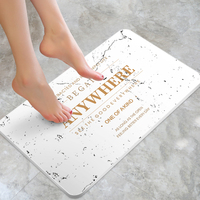Wholesale nonslip waterproof strong absorption eco-friendly natural diatomite bath mat