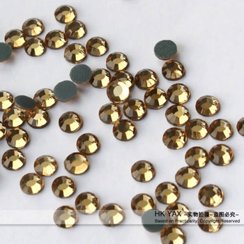 0624N Lt.Topaz Hotfix Crystal YAX1030 Hot Fix Rhinestone for Garments china cheap hotfix rhinestones