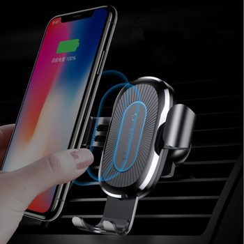 2019 new Car 10W fast charge creative air outlet gravity phone bracket qi wireless charging mobile phone wireless charger
