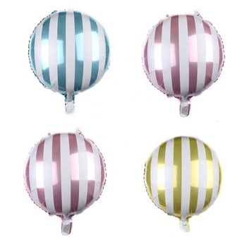 Amazon hot selling 18 Inch Round Candy Lollipop Aluminum Film Balloon Cartoon Toy Birthday Party Decoration