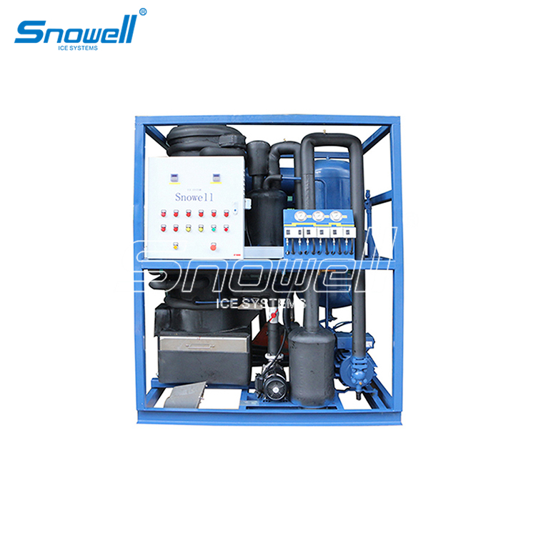 Industrial Self-contained Ice Making Machines Small Ice Machine Factory Tube Ice Maker 3 Ton