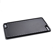Indoor BBQ Cooking Non-Stick Cast Iron Reversible Griddle <strong>Plate</strong>