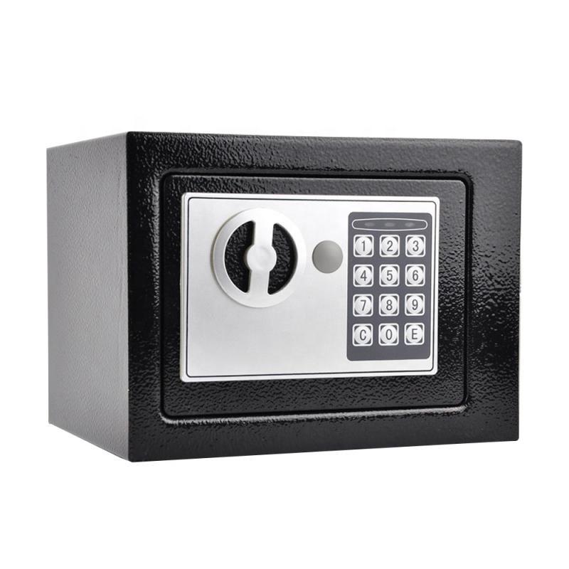 Electronic Password Mini Safe Money Cash Deposit Box Office Home White Black//G